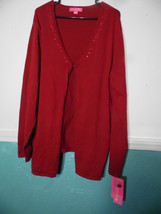 Langer Maternity Cardigan Rap Long Sweater Burgandy XXL 2X Red Solid - $32.66