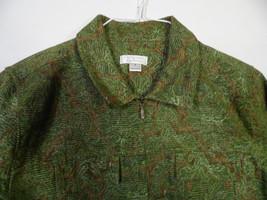 Medium Christopher Banks Green Brown Blazer Jacket  Leaf Waist Length - $37.61