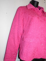 Laura Ashley Petite  Small Bright Pink Blazer Jacket Long Sleeve Stretch - $35.63