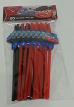 NIP Disney Pixar Cars Birthday Party Pack Straws 20 Count Red & Black Se... - €4,11 EUR