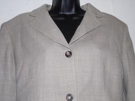 Evan Picone 14 Pant Suit Blazer Trouser Beige  ... - $79.19