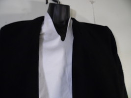 Liz Claiborne 14 Petite Skirt Jacket Blazer Suit Dark Blue Black Unique ... - $56.42