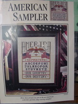 "Cross Stitch Pattern Page ""American Sampler"" 16""x 18"" by Jane Chandler - $3.99"