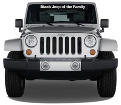 Black Jeep of the Family windshield decal Decals - $28.00