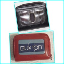 Buxton Women's Genuine Leather Expandable Card Case/Mini Wallets Zip-Around