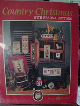 """Cross Stitch Pattern Leaflet """"Country Christmas"""" w/Buttons & Beads - $3.99"""