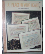 """Cross Stitch Pattern Leaflet """"A Place in Your Heart"""" Samplers - $3.99"""