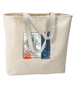 Blue Lobster New Jumbo Canvas Tote Bag Beach Travel Shop Events Gifts - $19.99