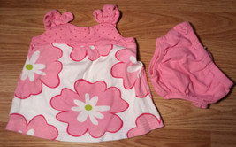 Girl's Size 3 M 0-3 Months 2 Piece Circo White/ Pink Floral Polka Dot Dress & DC - $12.00