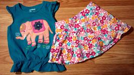 Girl's Size 24 M Months 2 Piece Garanimals Elephant Top & Children's Pla... - $13.99