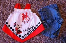 Girl's Size 6 M 3-6 Months 2 Pc Minnie Mouse Handkercheif Top, Old Navy ... - $17.50