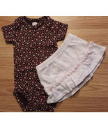 Girl's Size 3 M 0-3 Months 2 Piece Outfit Carter's Brown Floral Top & Pi... - $16.50
