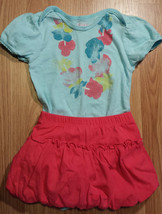 Girl's Size 12-18 M Month Two Piece Children's Place Blue Floral Top & S... - $16.00
