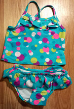 Girl's Sz 6-9 M Months Two Piece Children's Place Blue Polka Dot Bikini Swimsuit - $12.00