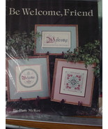 """Cross Stitch Pattern Leaflet """"Be Welcome, Friend"""" By Leisure Arts - $3.99"""