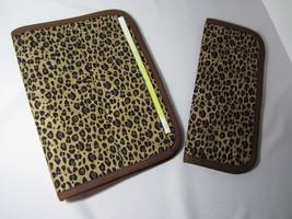 JW Portfolio Field Ministry Organizer & Tract Holder Set Leopard Print  - $50.00