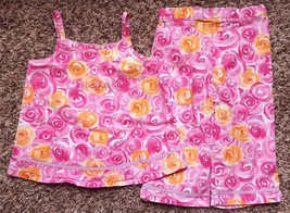 Girl's Size 18M 12-18 Months Two Piece Pink Floral Camisole Top & Pants Set - $17.00