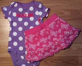 "Girl's Size 3-6 M Months 2 Piece Purple ""Hug Me"" Carter's Top, Koala Bab... - $17.00"