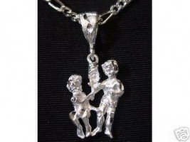 LOOK Twins Gemini Zodiac Astrology Sterling Silver 925 charn - $15.32