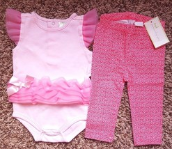 Girl's Size 3-6 M Months Pink Tulle Baby Gear Top + NWT FI Pink Floral L... - $15.00