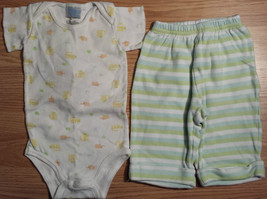 Girl's/Boy's Size 6 M 3-6 Months 2 Piece Carter's Outfit White Animal To... - $14.00