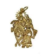 LOOK Hindu Radha Krishna Love Charm Flute 24kt Gold plated - $20.52