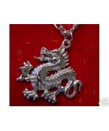 LOOK New Silver Fierce Celtic Dragon Pendant Charm Jewelry - $12.46