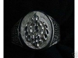 LOOK Sterling Silver RING Sikh Khanda Sword THICK Jewelry - $22.95