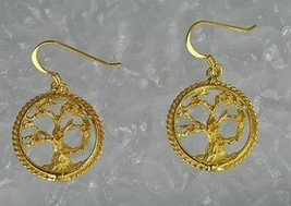 LOOK Gold Plated Over silver Celtic Tree of Life  Earrings - $31.93