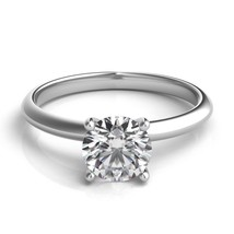 1 Carat E SI2 Round Diamond Engagement Bridal Solitaire Ring 14K White Gold - £1,062.54 GBP