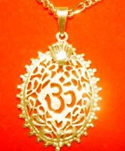 LOOK Gold plated over Sterling Silver 925 Charm Pendant Ganesh Hindu OM ... - $21.41