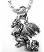 LOOK Medieval Times slayer dragon Mythology pendant charm Sterling silve... - $17.42