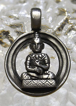 LOOK Meditation Buddha higher wisdom Sterlling Silver buddhist Pendant C... - $43.07