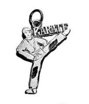 LOOK Karate Kid Man Kicking Martial Arts charm Silver .925 - $17.00