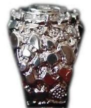 LOOK Mens Sterling silver Allah Ring Islam Muslim Jewelry - $33.11