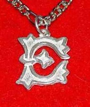 LOOK Gothic Letter E Sterling Silver .925 Pendant Charm Initial Jewelry - $18.75