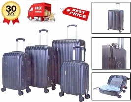 Bags ABS Set Travel Lock 4 Pcs Luggages Trolley Spinner Carry TSA Suitca... - $149.90