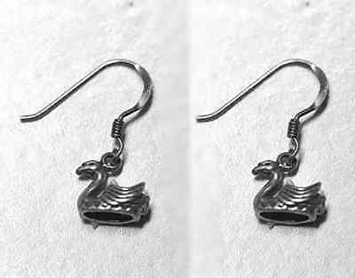 Primary image for LOOK New Small adorable Healing Good Health Authentic sterling silver .925 earri