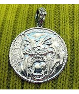 LOOK New Sterling Silver .925 pendant charm sabertooth tiger - $63.69