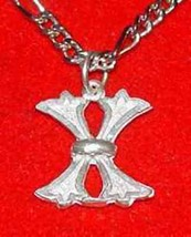 LOOK Gothic Letter X Charm Initial Letter Sterling Silver .925 Pendant J... - $16.55