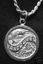 LOOK VANCOUVER Canada Fish Sterling Silver Charm - $8.96