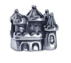 LOOK Kings Queen Castle Charm bead jewelry sterling silver - $27.72