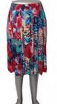 Multi Colored  Red Fuchsia Blue Flora Print Fas... - $21.73