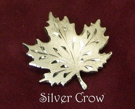 Sterling Silver Etched Maple Leaf Pin - $21.99