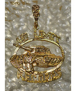 LOOK HUGE No Limit Soldier Pendant Charm Records Jewelry Gold Plated Ste... - $142.74