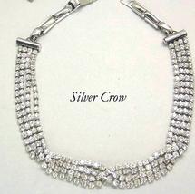 Rhinestone 4 Strand Braided Choker Necklace  Small - $18.99