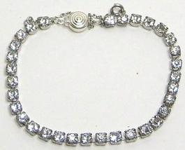 Vintage Sterling Silver Rhinestone Tennis Bracelet - $33.99