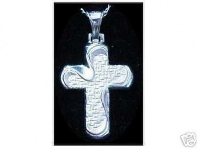 Primary image for LOOK New Sterling Silver 925 swirl Cross Pendant Charm Jesus