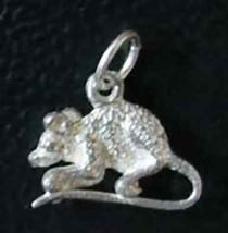 LOOK field mouse pendant charm Sterling Silver .925 Jewelry - $12.73