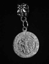 Look New Sterling Silver Saint Saint St Michael Jewelry European Dangle Bead Cha - $23.54